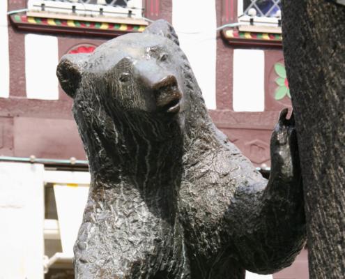 Bärenbrunnen in Bernkastel dem Wappentier