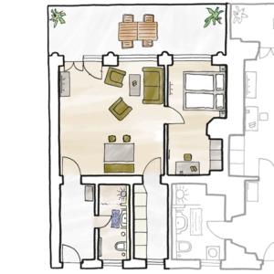 5-Sterne-Ferienwohnung Villa Mosella 3 Grundriss