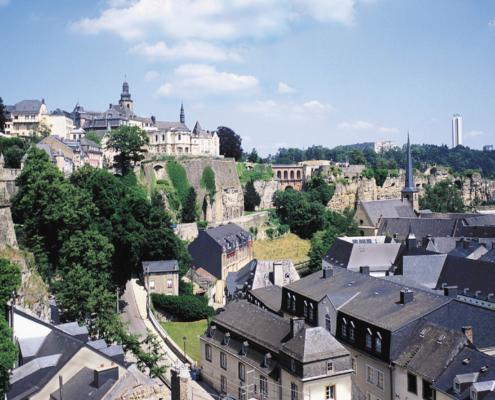 Stadt Luxemburg mit Stadtmauer