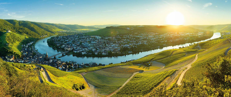 Mosel-Panorama-Landschaft Bernkastel-Kues