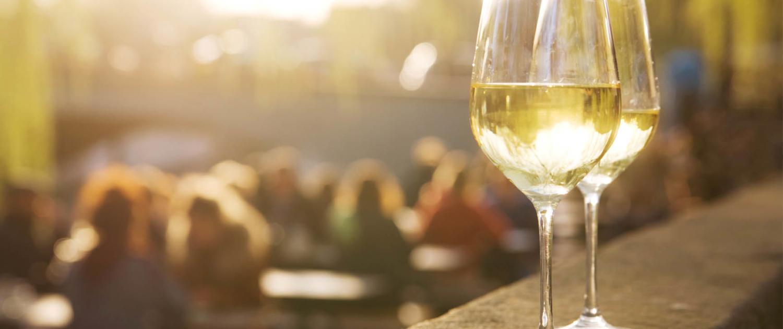 An der Mosel werden in Steillagen feinste Riesling-Weine ausgebaut